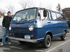VANagain's 65 Sportvan Deluxe : VANagain (formerly RicoEQ) has an Early van again! After selling his beloved 66 Chevy van in 1994 in a moment of weakness, he tried other vans, settling on a 91 VW Vanagon. Not a bad substitute, sort of a modern-day Early, but ultimately the lure of the old Chevy van was too much. Now with the help of the good folks at VintAGE-Vans and VCVC, he has found this beautiful 65 Chevy Sportvan Deluxe!